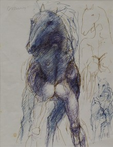 Horse and Figure drawing